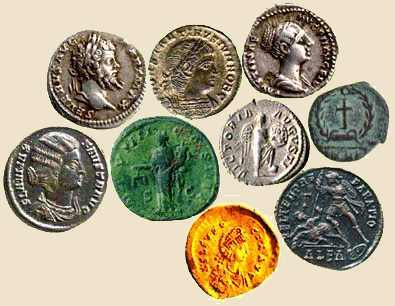 Ancient coins.