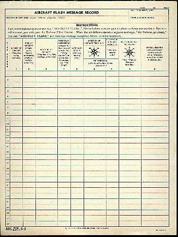 An original data pad from the 1950s.
