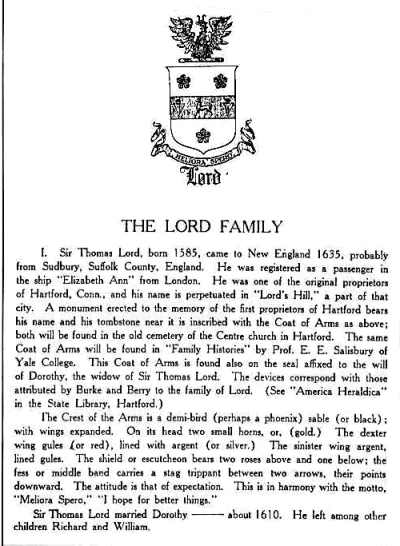 The Lord origins according to Bishop, 1892.