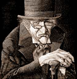 Scrooge - Used with permission of the artist.